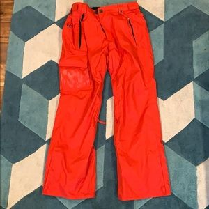 686 red snowboarding pants